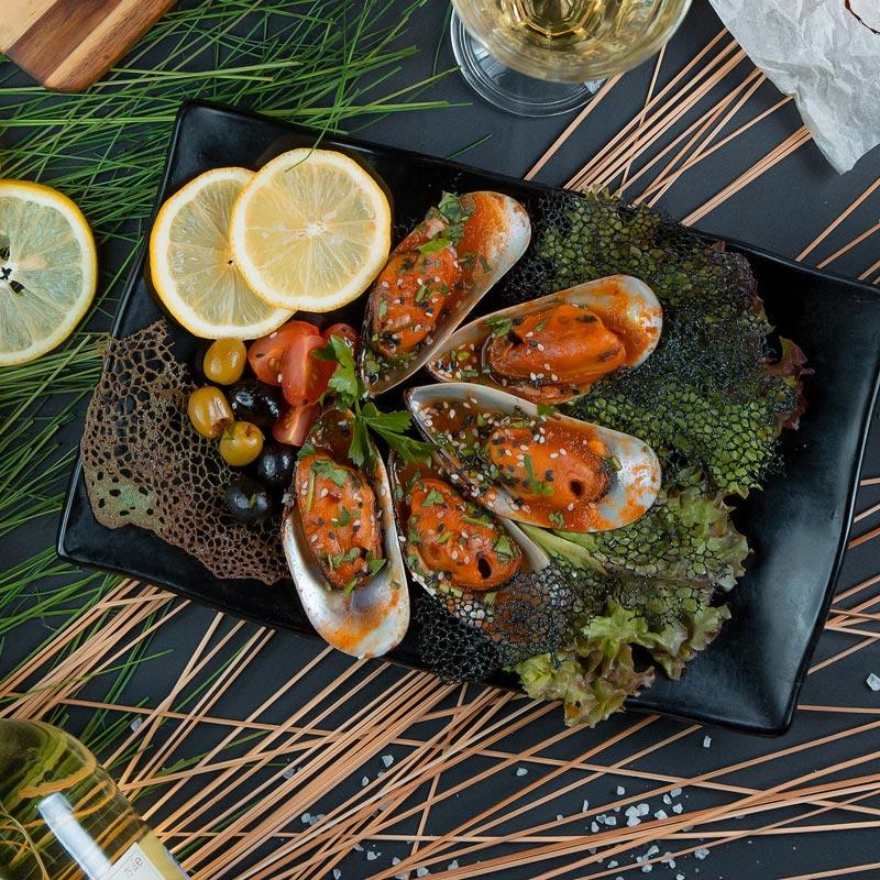 Новозеландские мидии в томатно-имбирном соусе