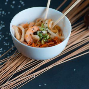 Wok лапша со морепродуктами